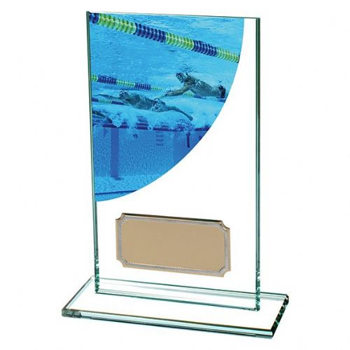 Colour Curve Swimming Jade Glass Award 140mm